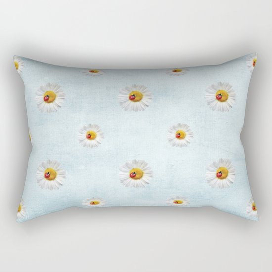 Daisies in love- lightblue pattern Rectangular Pillow
