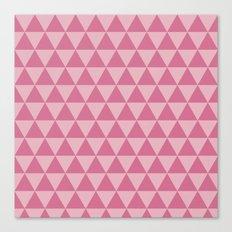 Bubblegum triangles 2 Canvas Print