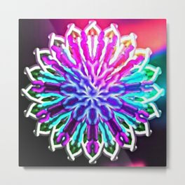 Rainbow Kalide a ride Metal Print