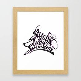 Font illustration calligraphic writing. Framed Art Print