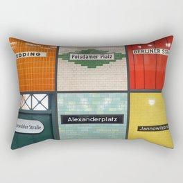 Berlin/Munich U-Bahn Memories - Your Own Creation Rectangular Pillow