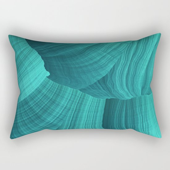 Turquoise Sediment Rectangular Pillow