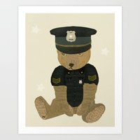 police Art Prints featuring police ted  by bri.buckley