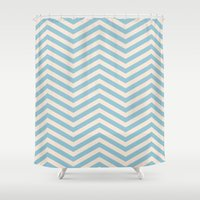 chevron Shower Curtains featuring Chevron by Patterns and Textures