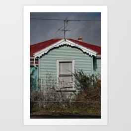 Lil turquoise house Art Print