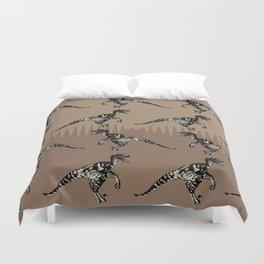 ChocoPaleo: Velociraptor Duvet Cover