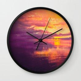 Maldivian sunset 6 Wall Clock
