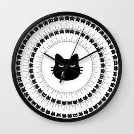 Noto cats Wall Clock