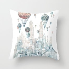 Voyages Over New York ~Refresh Throw Pillow