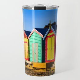 Brighten Beach Bathing Boxes. Melbourne. Australia. Travel Mug