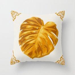Monstera, Santa, SOMMAR Limited Edition #1 Throw Pillow
