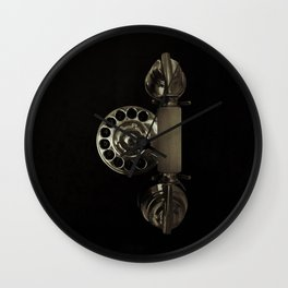 Old rotary dial phone Wall Clock