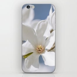 White Magnolia iPhone Skin