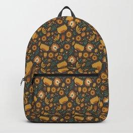 Autumn Folk Art Florals Backpack