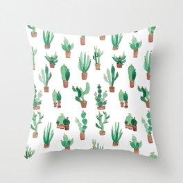little cactus Throw Pillow