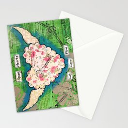 Open Hearts - Let Love Flow Stationery Cards