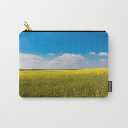 Drifting Days - Blissful Spring Day of Blue Skies and Yellow Canola Fields Carry-All Pouch