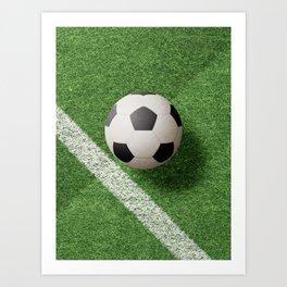 BALLS / Football Art Print