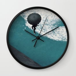 road of sea Wall Clock