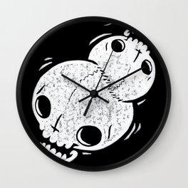 Tumblin' Skulls Wall Clock