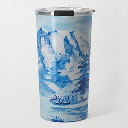 Winter Mt. Rainier Travel Mug