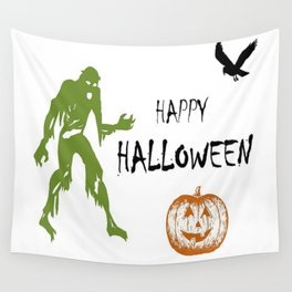 Happy Halloween Art Wall Tapestry