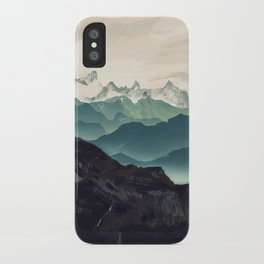 Shades of Mountains iPhone Case