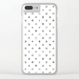 Super Mario Items White Clear iPhone Case