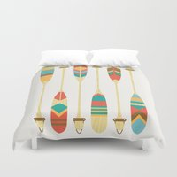 outdoor Duvet Covers featuring Summer Lake by Picomodi