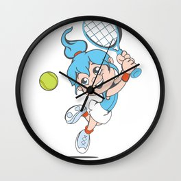 Tennis Girl Present gift Wall Clock
