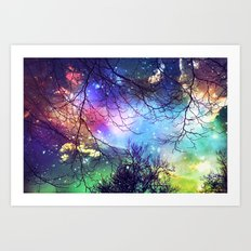 look to the stars Art Print
