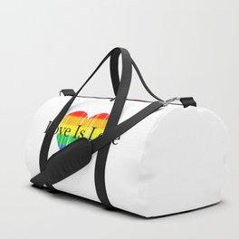 Love Is Love Rainbow Pride Heart 2 Duffle Bag
