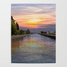 Ballard Locks at Sunrise Poster