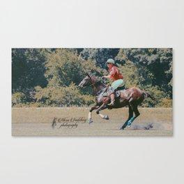 Bay Cantering Polo Pony #2 Canvas Print