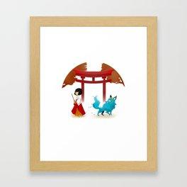 Miko and Fox Framed Art Print