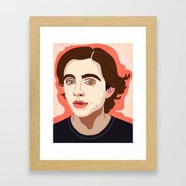 Timothee Chalamet Framed Art Print
