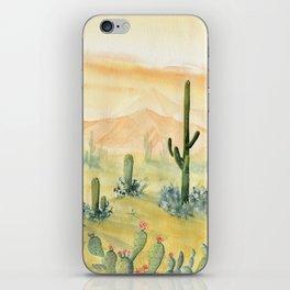 Desert Sunset Landscape iPhone Skin