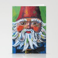 gnome Stationery Cards featuring Garden Gnome  by Juliette Caron