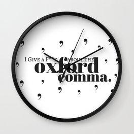 Grammarians Unite (Oxford Comma) Wall Clock