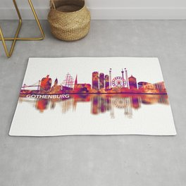 Gothenburg Sweden Skyline Rug