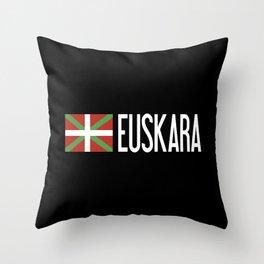 Basque Country: Basque Flag & Euskara Throw Pillow