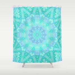 Aqua Kaleidoscope 7 Shower Curtain