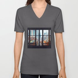 New York City Window Unisex V-Ausschnitt