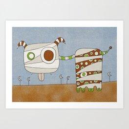 Brown Blah Art Print