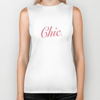 chic Biker Tanks featuring Chic by AlfredHuxley