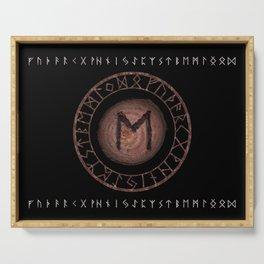 Eihwaz Elder Futhark Rune Strength, reliability, dependability, trustworthiness. Enlightenment Serving Tray
