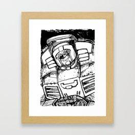 B&W SWERVE Framed Art Print