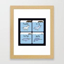 Noah Is A Total Jerk (Horned Warrior Friends) Framed Art Print
