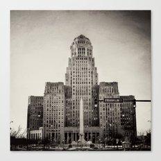 Down Town Buffalo NY city hall Canvas Print