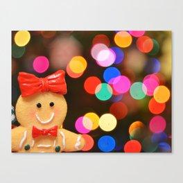 Gingerbread Bokeh Canvas Print